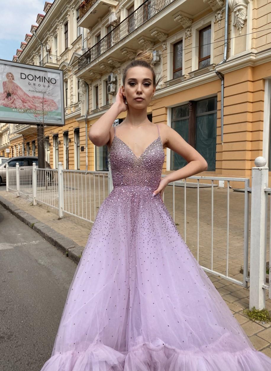 Лавандовое вечернее платье Mac Duggal 11111