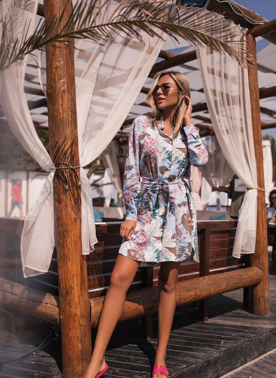 Цветочное платье 152