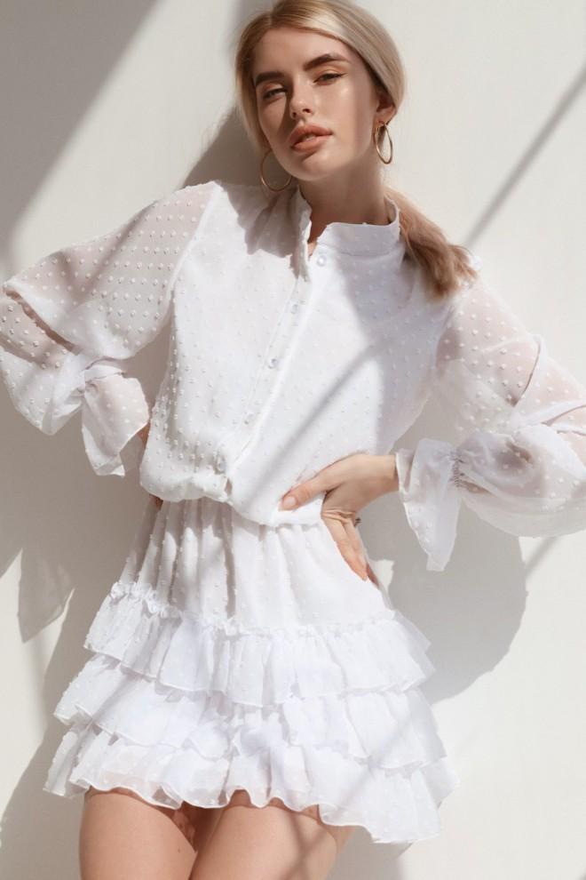 Платье мини Селин с длинным рукавом