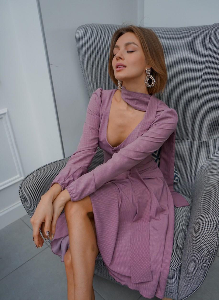 Платье Мадлен горох