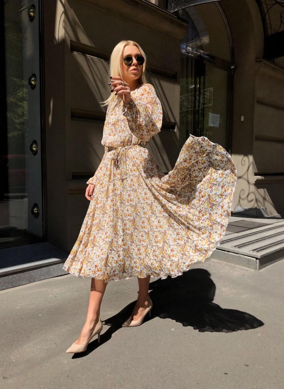 Платье миди Венеция с цветами