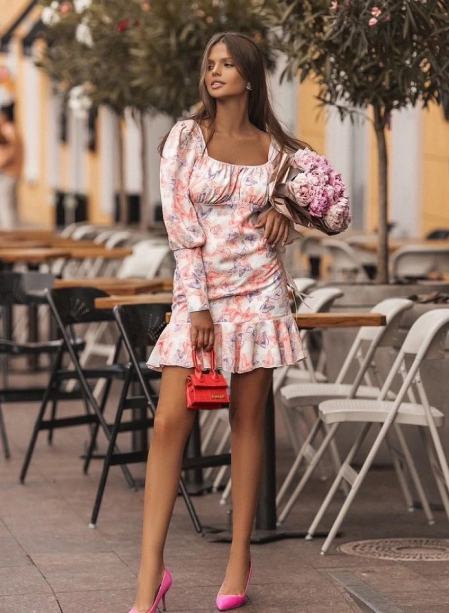 Легкое шифоновое платье 156