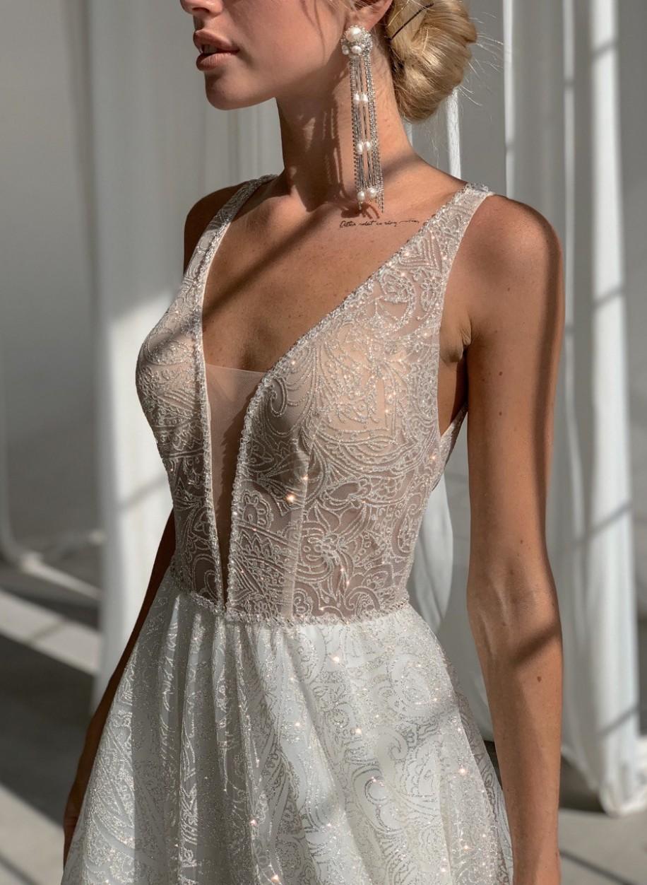 Свадебное платье с блестками Мадлен