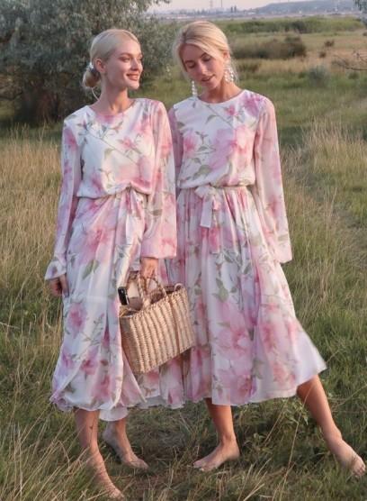 Шифоновое платье Венеция с цветами