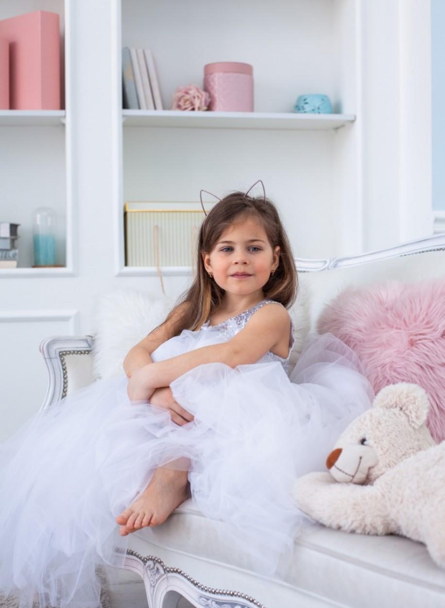 Детское платье Микки пайетка