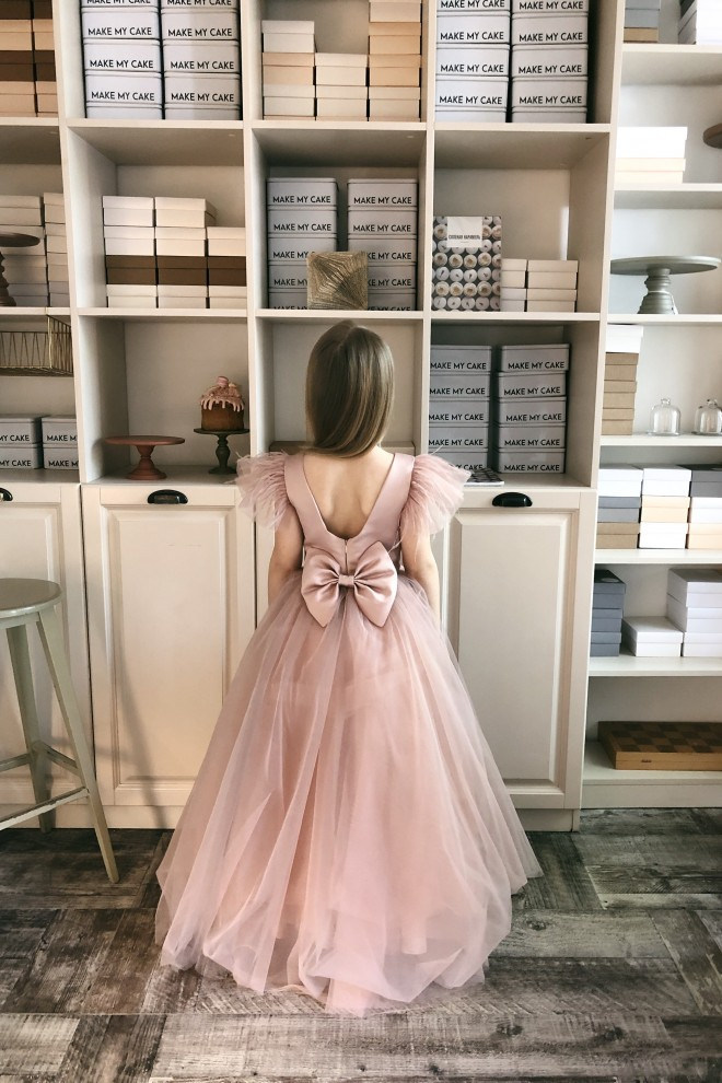 Детское платье Микки атлас