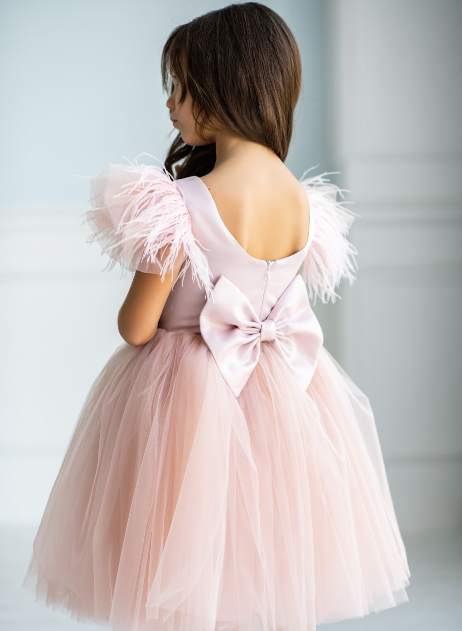 Детское платье Микки атлас (короткое)
