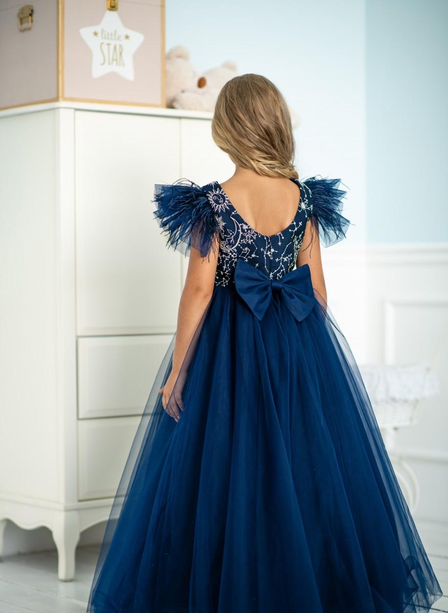 Детское платье Микки гипюр