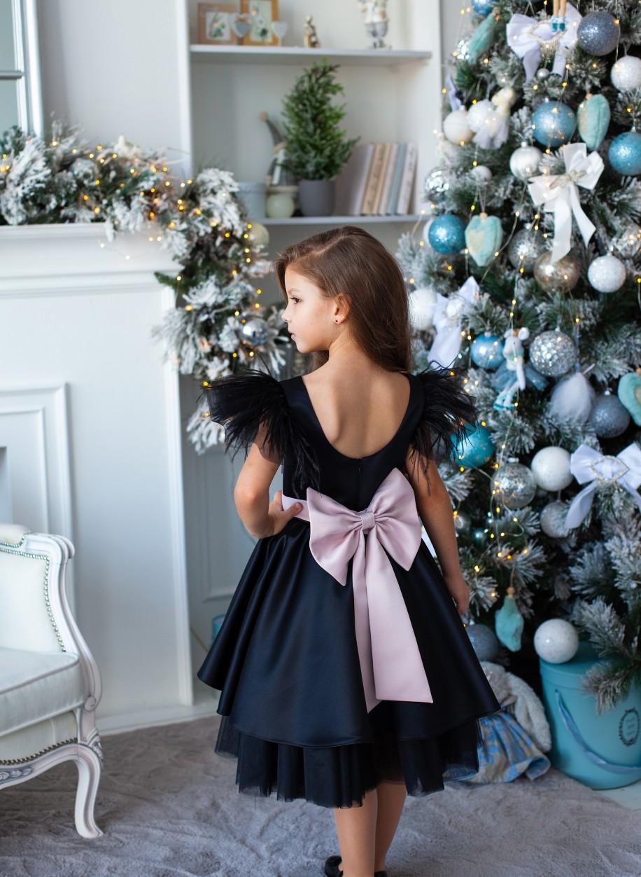 Выпускное платье для девочки Миа атлас.