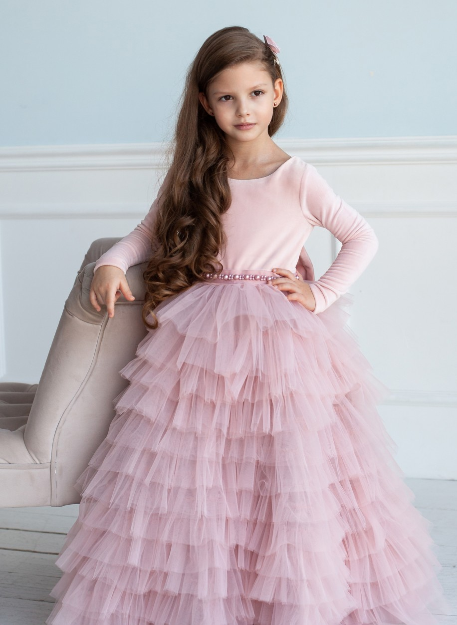 Детское платье Мисси бархат закрытое