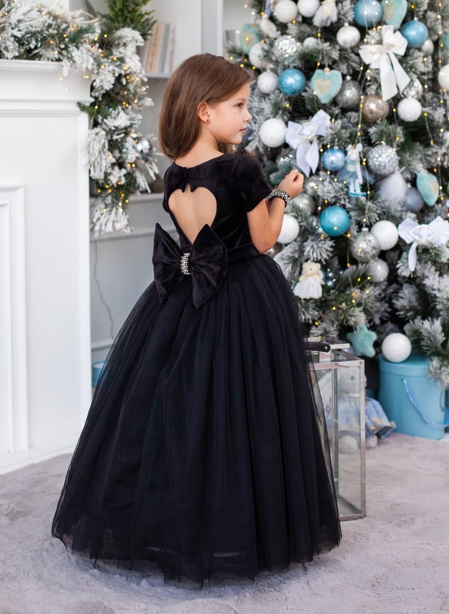 Детское платье Микки бархат рукавчик
