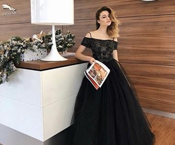 Черныое платье на выпускной
