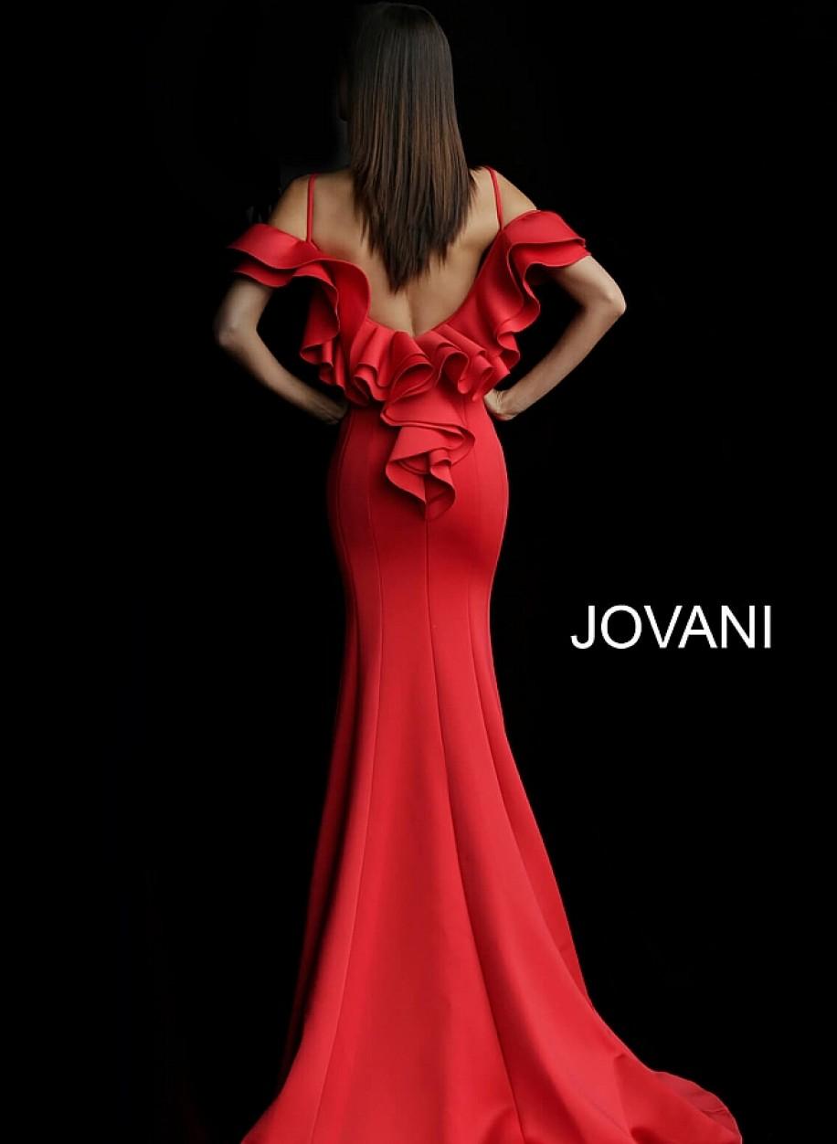 Сексуальное вечернее платье алого цвета Jovani 57925