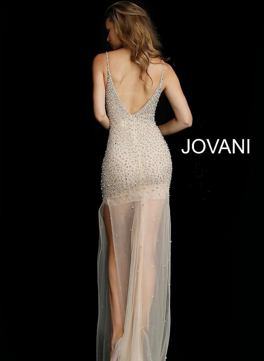 Шикарное вечернее платье длинное в пол  Jovani 58559