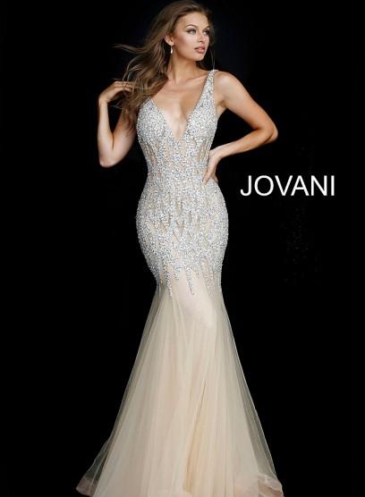 Красивое летнее платье с открытой спиной Jovani 59717