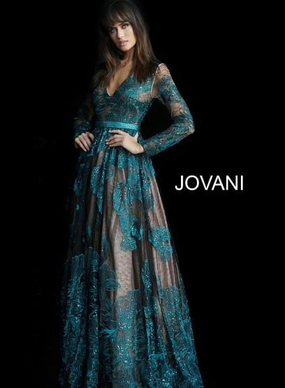Роскошное вечернее платье со шлейфом Jovani 62027