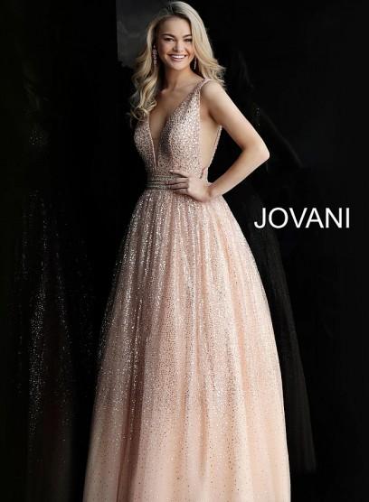 Стильное выпускное платье с открытой спиной  Jovani 62170
