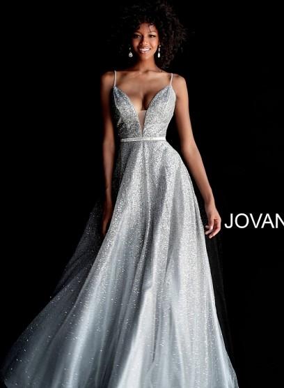 Сногсшибательное выпускное платье с глитером Jovani 62301