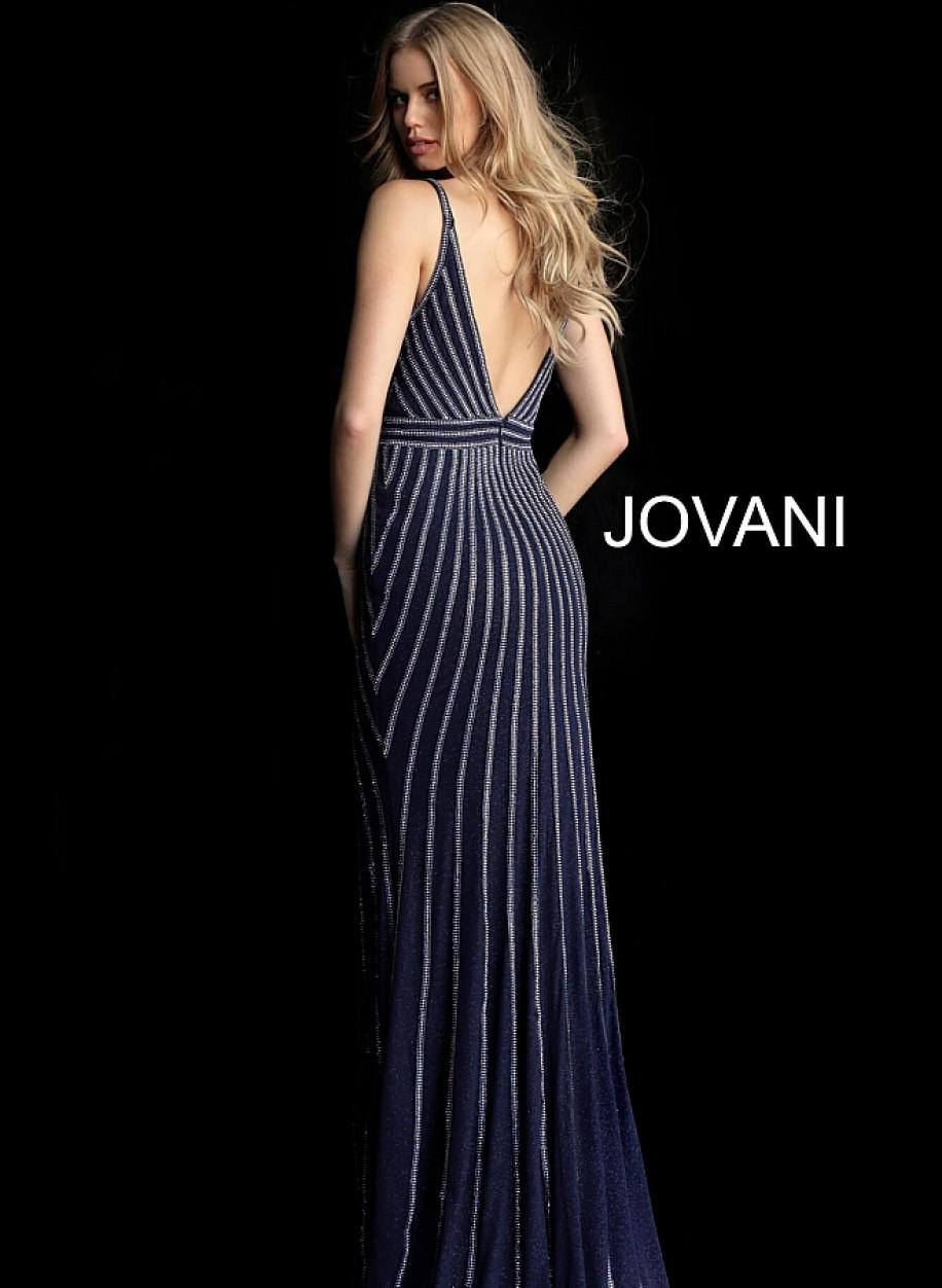 Длинное вечерние платье с открытой спиной Jovani 62497