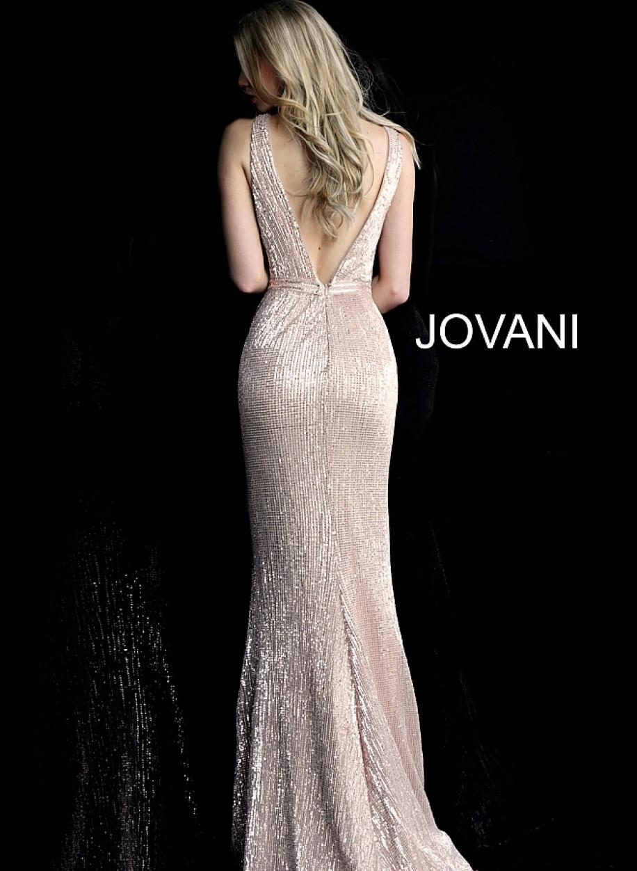 Вечерние платье в пол нежно розового цвета Jovani 62507