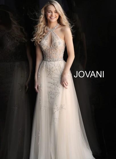 Нежное выпускное платье с фатиновой юбкой Jovani 62602