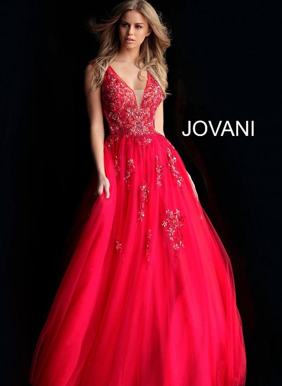 Пышное выпускное платье с воздушной юбкой Jovani 62619
