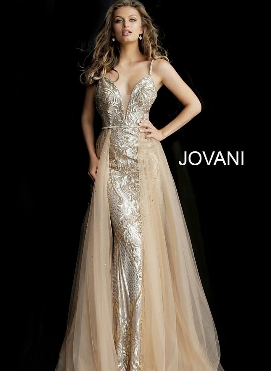 Платье трансформер с длинным шлейфом Jovani 62630