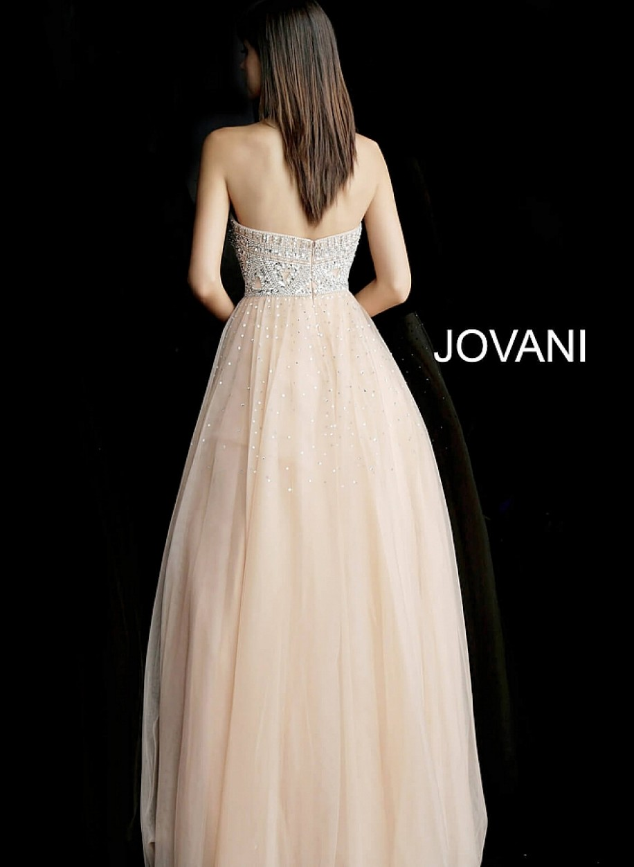 Корсетное вечерние платье с фатиновой юбкой Jovani 62768