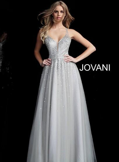 Ослепительное выпускное платье с фатиновой юбкой Jovani 64305