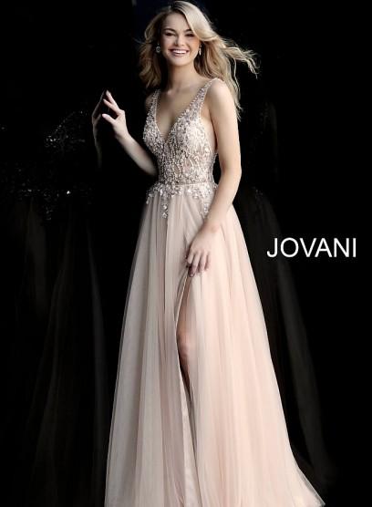 Нежное вечерние платье с открытым декольте Jovani 65324