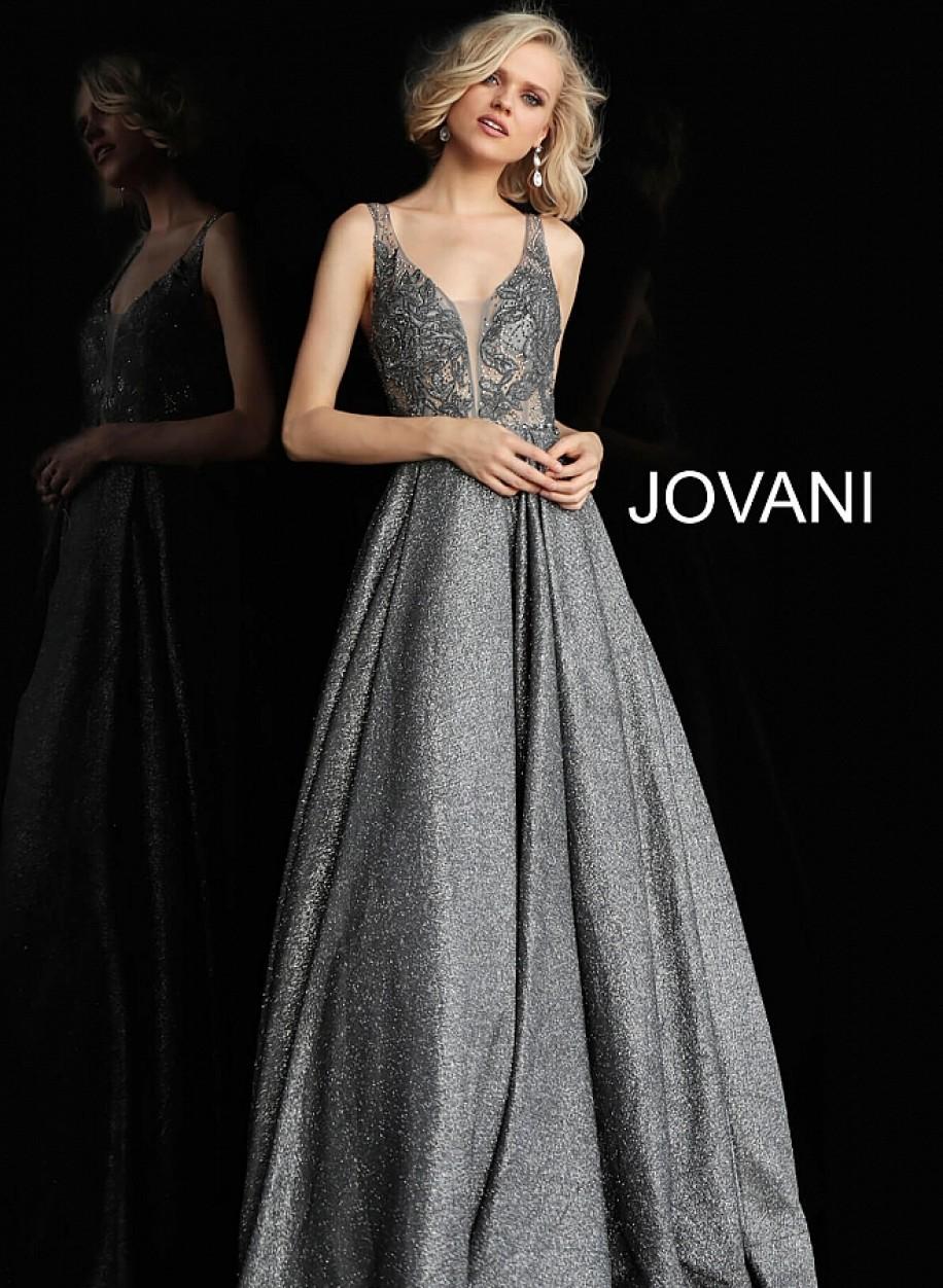 Изысканное выпускное платье с пышной юбкой Jovani 65855