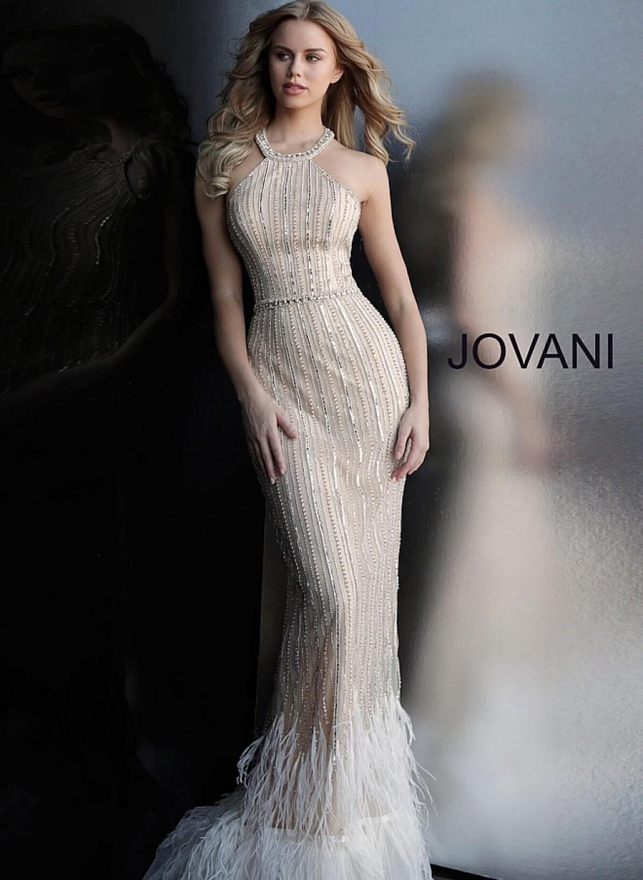 Утонченное вечерние платье с американской проймой Jovani 65861