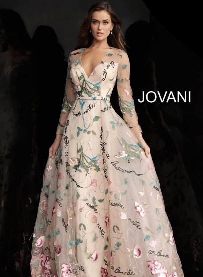 Легкое вечернее платье с открытым декольте Jovani 66166