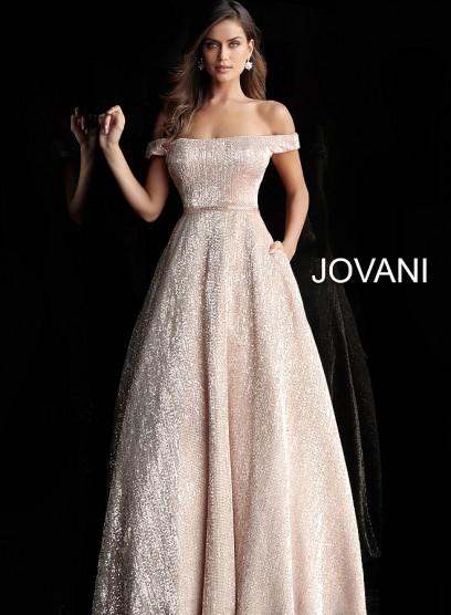 Бальное выпускное платье с пышной юбкой Jovani 66951