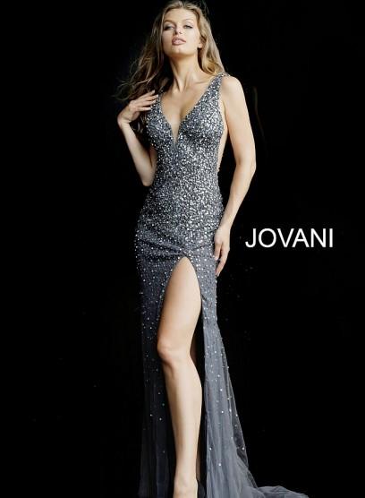 Невероятное вечернее платье с открытым декольте Jovani 58505