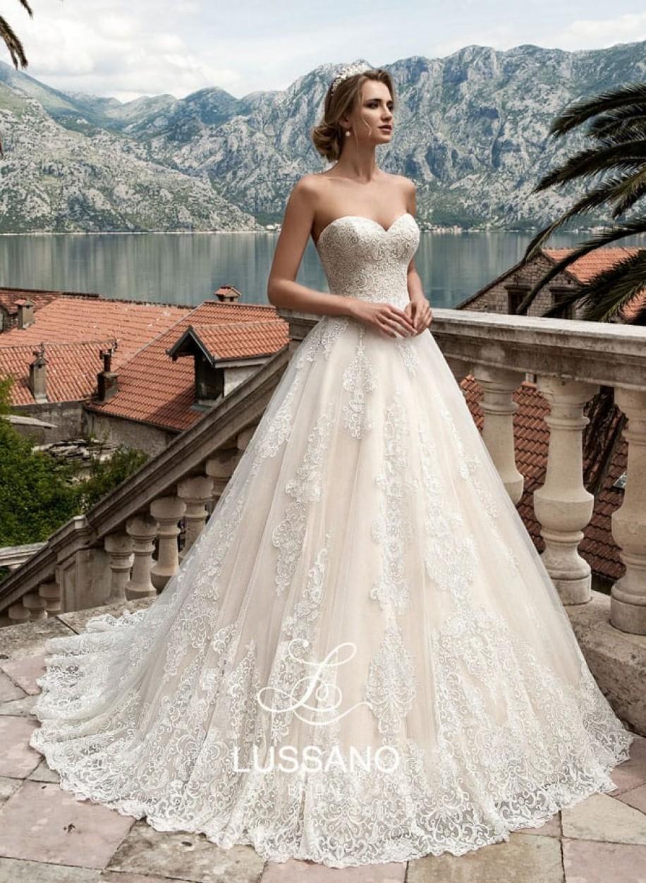 Свадебное платье Mavine с кружевной пышной юбкой