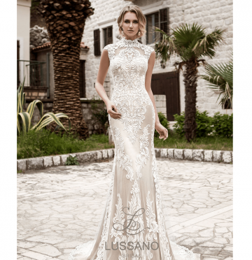 Свадебные платья с закрытым декольте