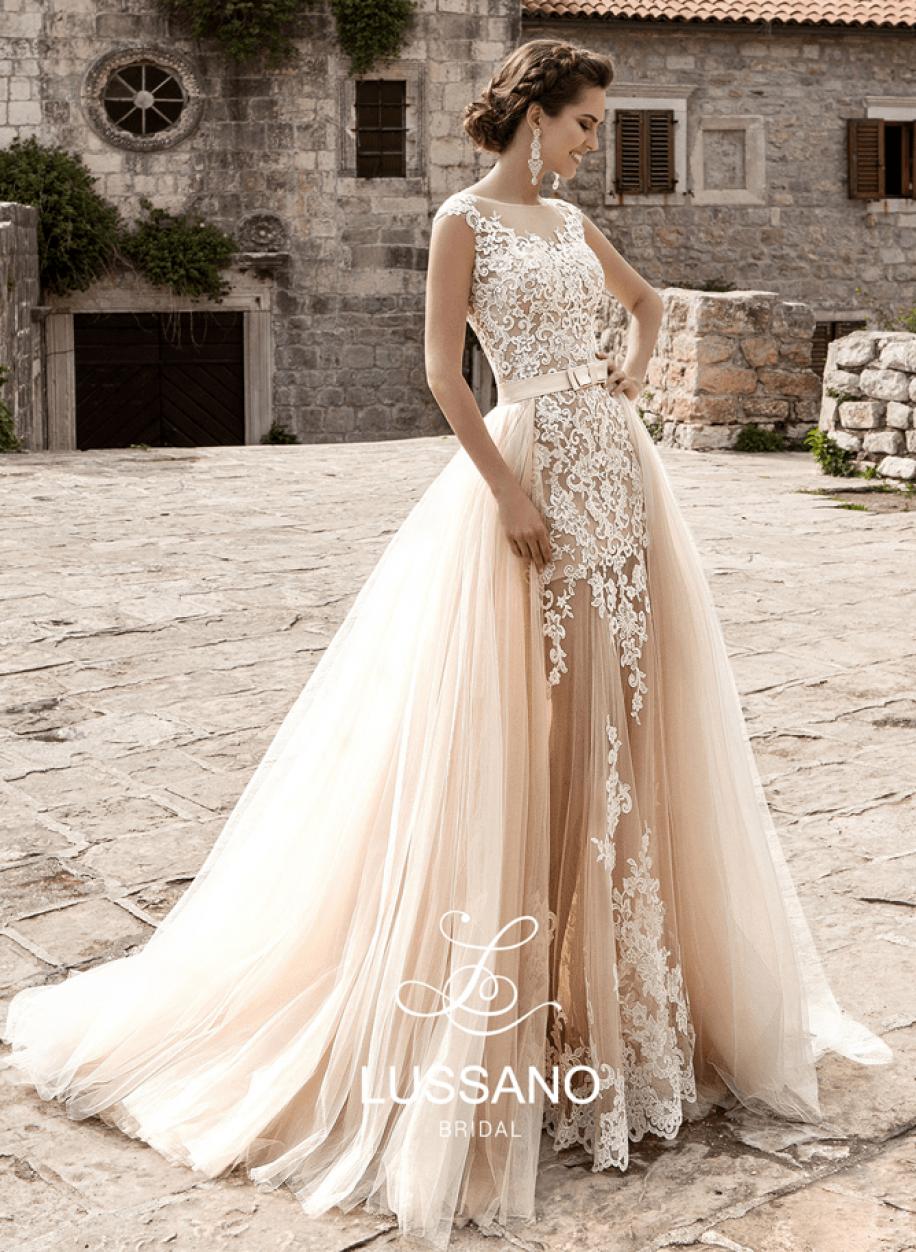 Королевское платье Mariana с отстегивающимся шлейфом