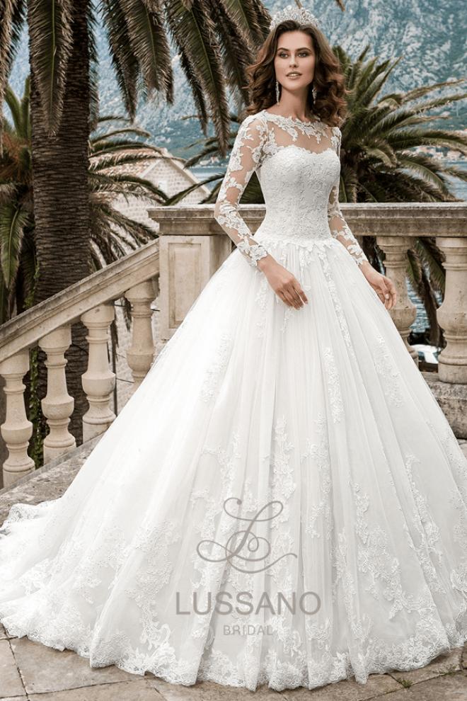 Пышное свадебное платье Magnolia с длинным шлейфом