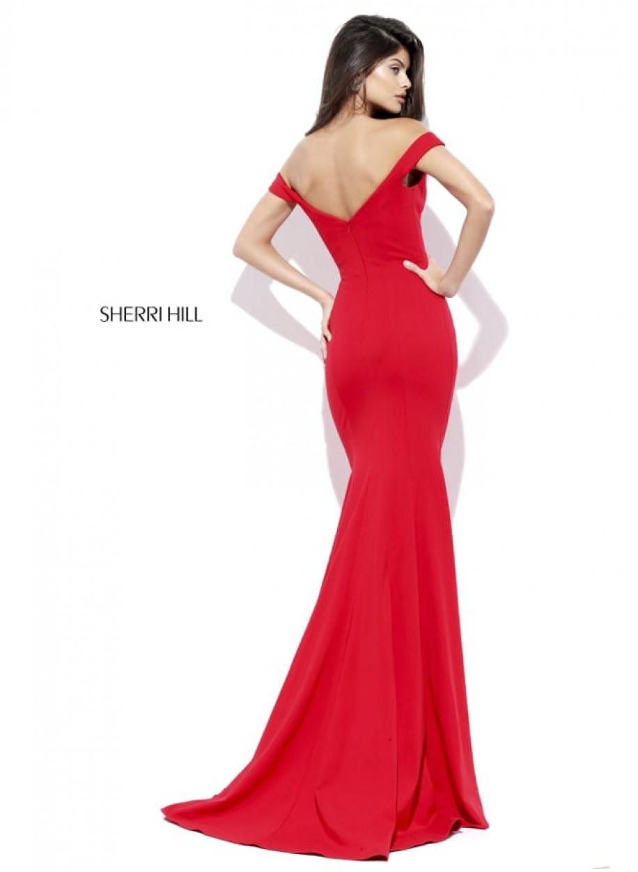Элегантное трикотажное платье Sherri Hill 50730