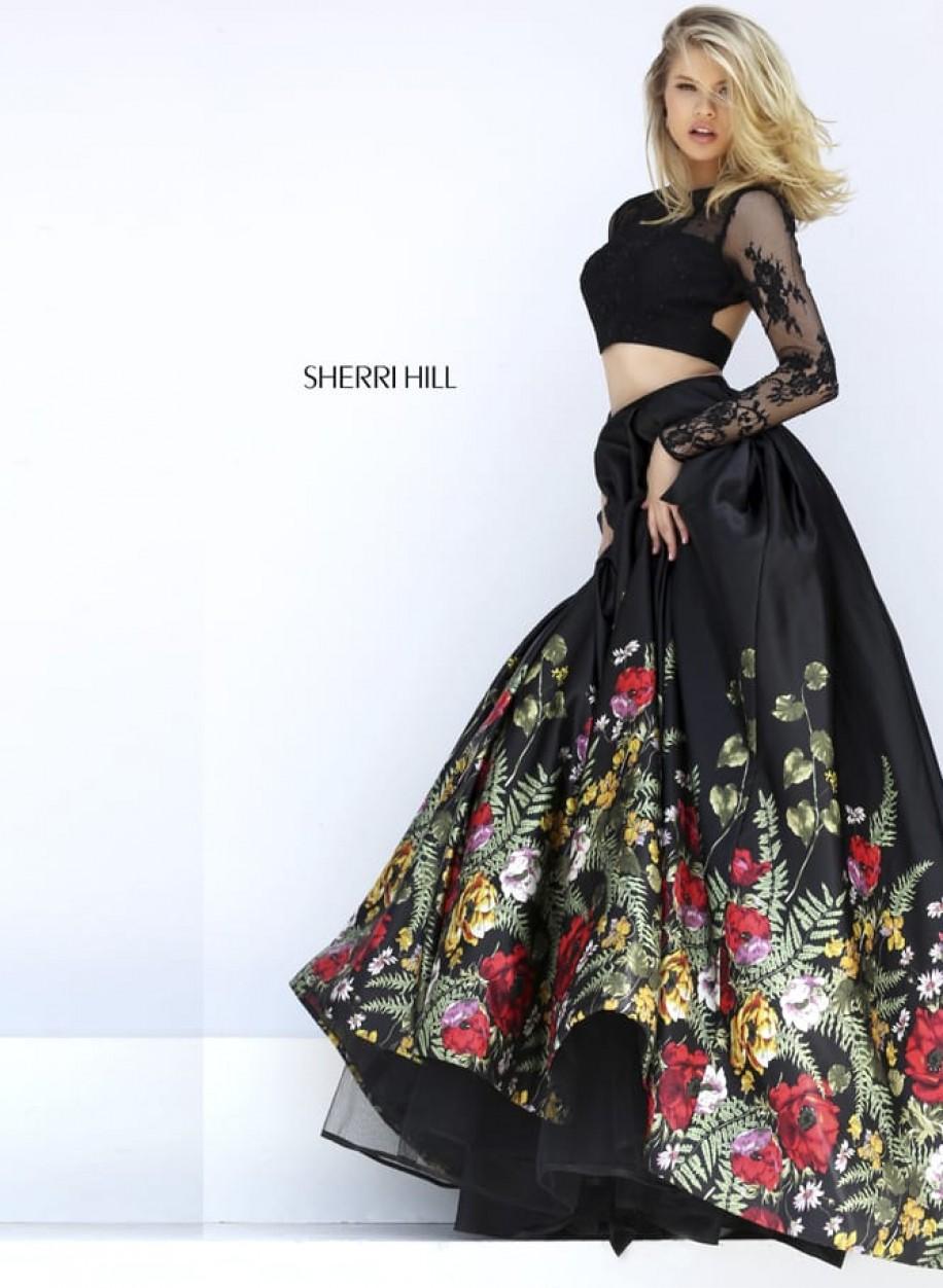 Шикарное платье Sherri Hill с пышной юбкой 50599