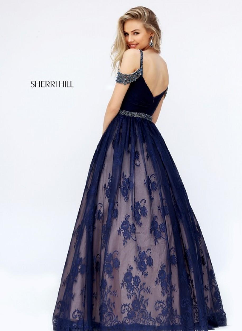 Вечернее платье Sherri Hill 50595-1 с нежным лифом