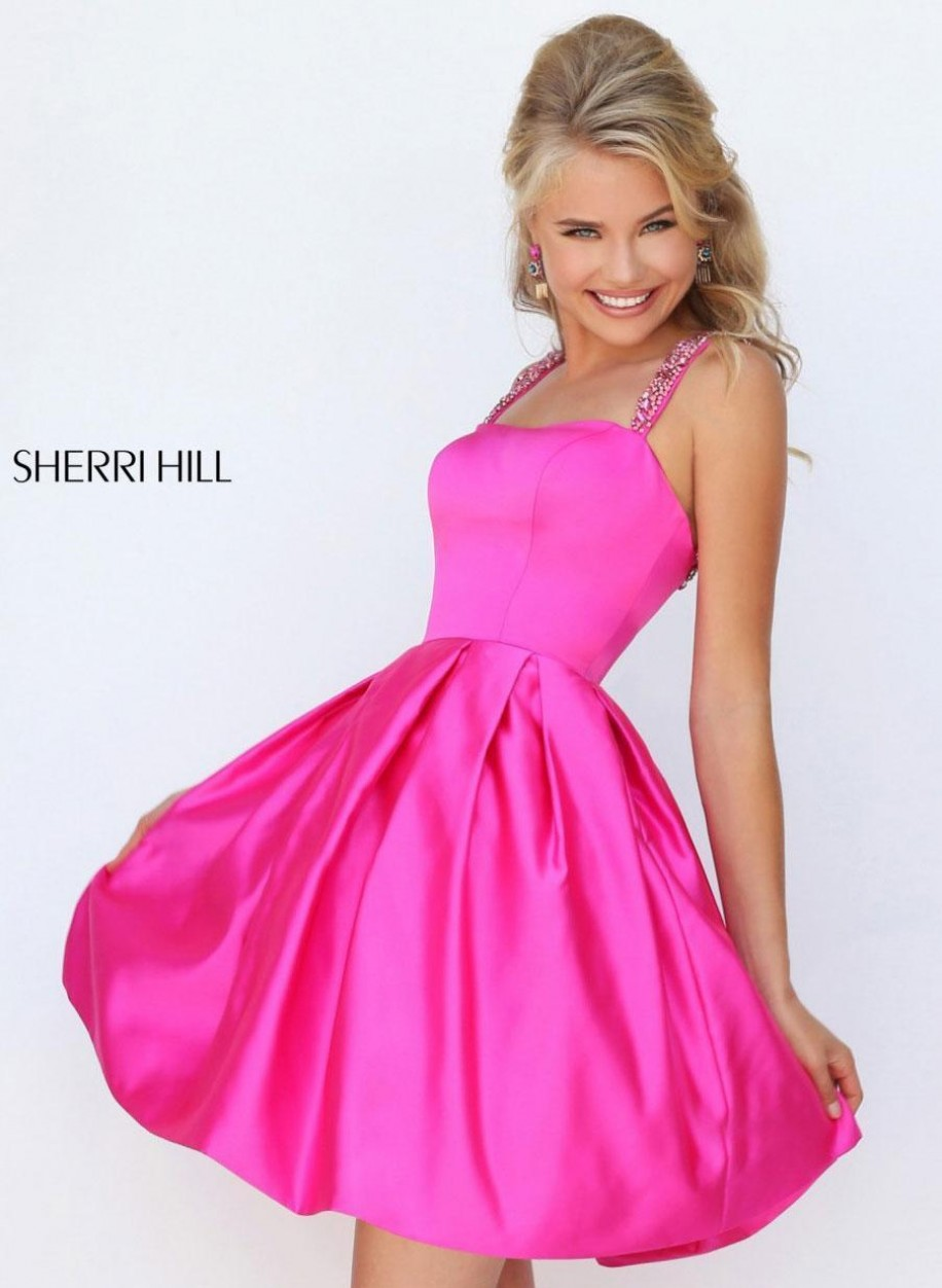 Коктейльное платье Sherri Hill с открытой спиной 50323