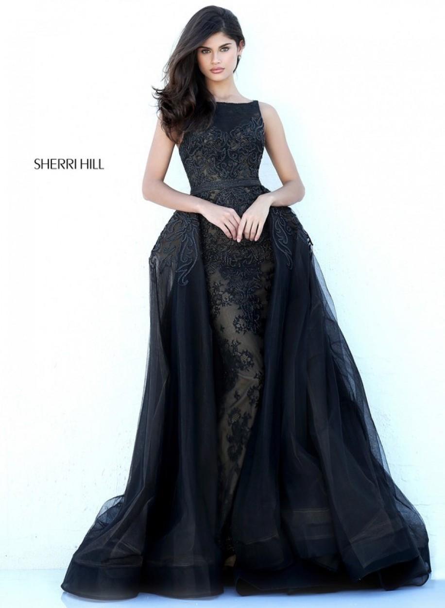 Королевское платье Sherri Hill 50768 с открытой спиной