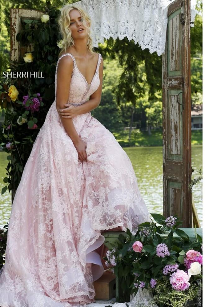 Роскошное платье Sherri Hill с открытой спиной 11314