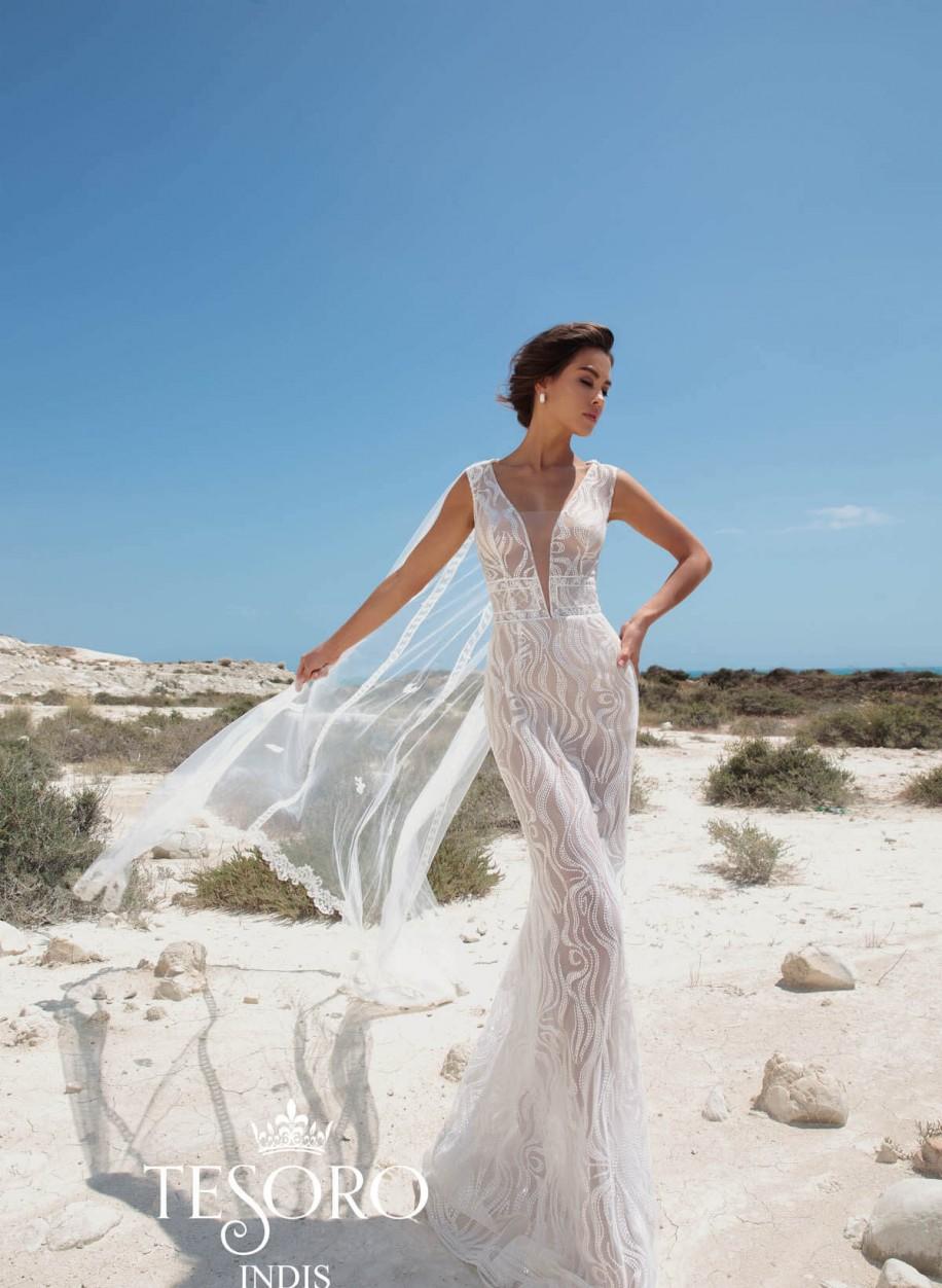 b0787c9fb8f18b Свадебное платье Tesoro Indis: купить в салоне La Novale по низкой цене