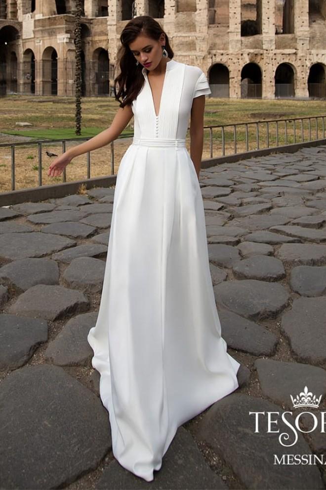 Облегченное свадебное платье Messina прямого силуэта